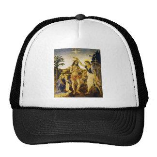 Taufe von Christus durch Da Vinci und Verrocchio Retrokult Cap