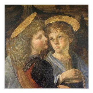 Taufe von Christus-Engeln durch Leonardo da Vinci Karte