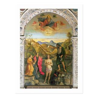 Taufe von Christus JohannesAltarpiece Postkarte