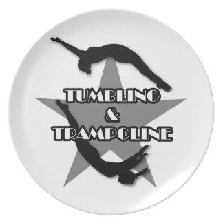 Taumelschwingung und Trampoline Flache Teller