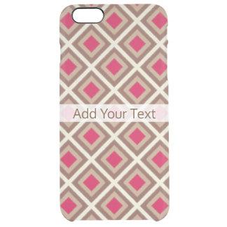 Taupe, heller Taupe, Pink Ikat Diamanten STaylor Durchsichtige iPhone 6 Plus Hülle