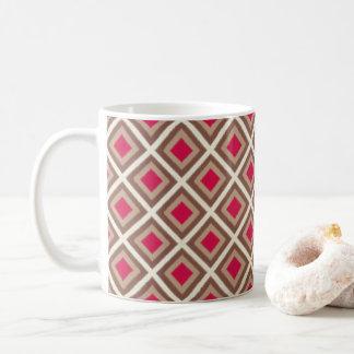 Taupe, heller Taupe, Pink Ikat Diamanten STaylor Kaffeetasse