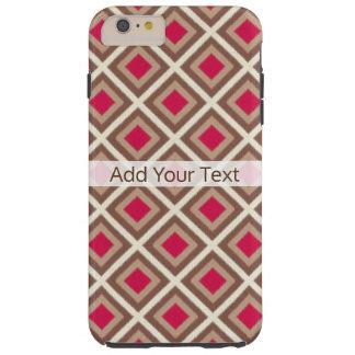Taupe, heller Taupe, Pink Ikat Diamanten STaylor Tough iPhone 6 Plus Hülle
