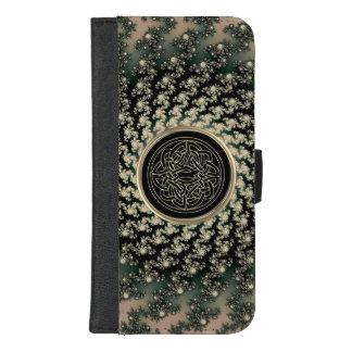 Taupe-keltischer Fraktal-Geldbörsen-Telefon-Kasten iPhone 8/7 Plus Geldbeutel-Hülle