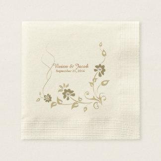 Taupe-kundenspezifische Hochzeits-mit Papierservietten