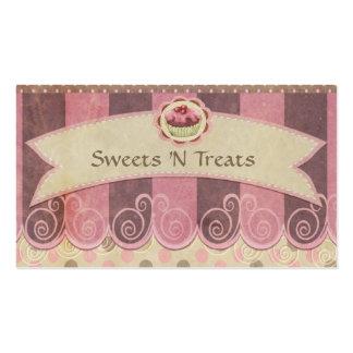 Taupe-rosa Kuchen-Bäckerei-Visitenkarte