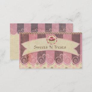Taupe Rosa Kuchen Bäckerei Visitenkarte Visitenkarte