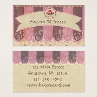 Taupe-rosa Kuchen-Bäckerei-Visitenkarte Visitenkarte