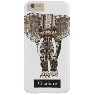 Taupe-Stammes- Elefant-individueller Name Barely There iPhone 6 Plus Hülle