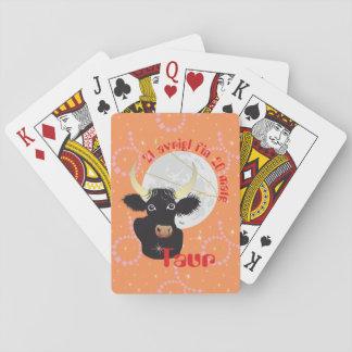 Taur 21 avrigl fin 20 matg Puzzle Gieu da chartas Spielkarten