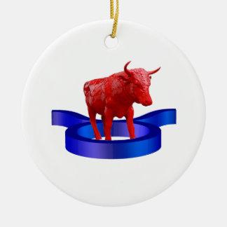 Taurus Rundes Keramik Ornament