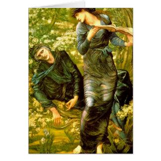 Täuschen von MERLIN ~ Burne-Jones Malerei 1874 Karte