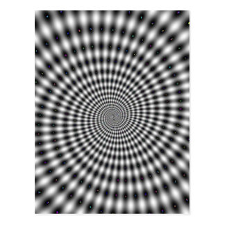 Täuschungs-Spirale Postkarte