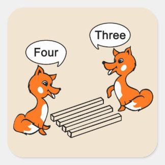 Täuschungs-TrickFox Quadratischer Aufkleber