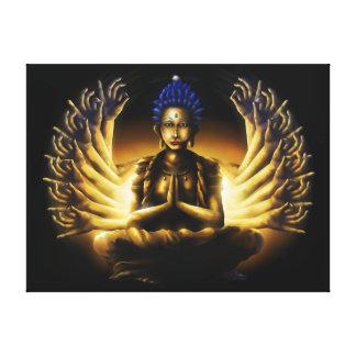 Tausend Arm Buddha - eingewickelter Leinwand-Druck Leinwanddruck