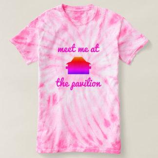 Tausend Insel-Park-gefärbte Krawatte Spitze T-shirt