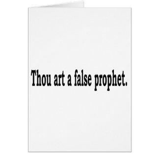 Tausend-Kunst ein falscher Prophet Karte