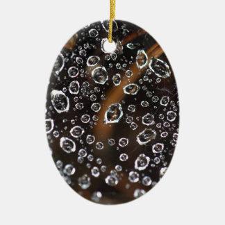 Tautropfen eines Spinnennetzes Keramik Ornament