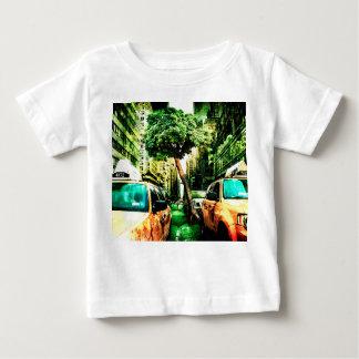 Taxi-Art mit altem Entwurf Baby T-shirt