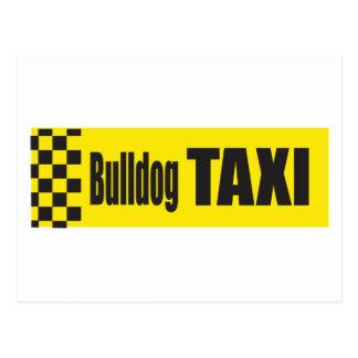 Taxi-Bulldogge Postkarte