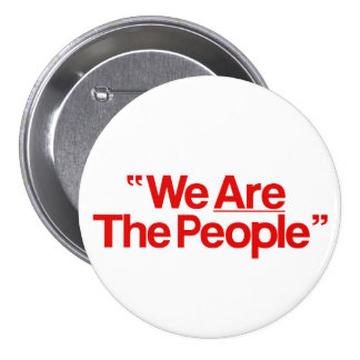 "Taxi Driver ""We Are The People"" Runder Button 7,6 Cm"