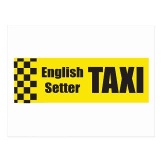 Taxi-englischer Setzer Postkarte