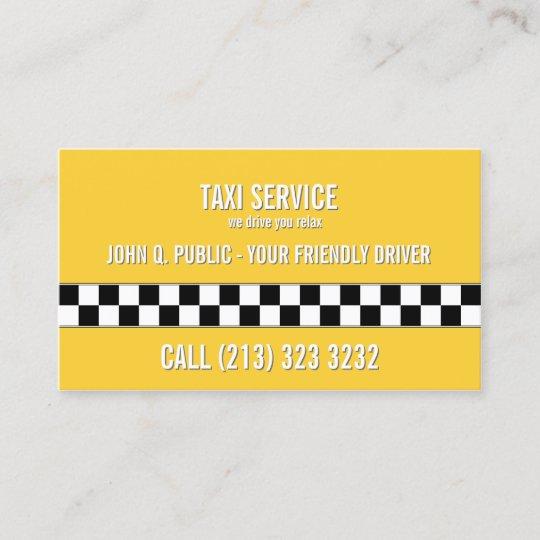 Taxi Fahrer Schwarzweiss Muster Visitenkarte Zazzle De