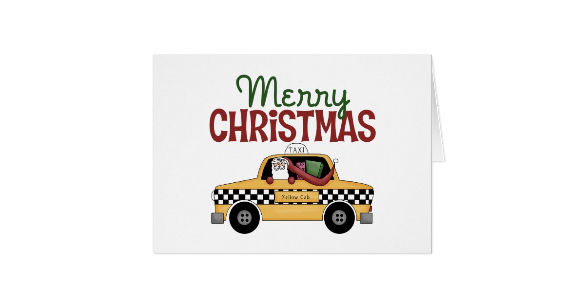 taxi fahrer weihnachten karte zazzle. Black Bedroom Furniture Sets. Home Design Ideas