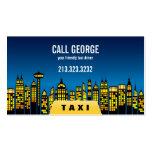 Taxi in der Stadt an der NachtVisitenkarte Visitenkarten