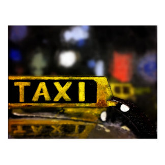 Taxi-Postkarte Postkarte