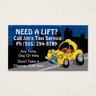 Taxi-Service Visitenkarte