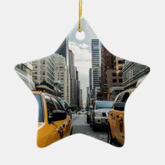 Taxi-Verkehrs-Fahrerhaus-New- Yorkstraßen-Straße Keramik Ornament