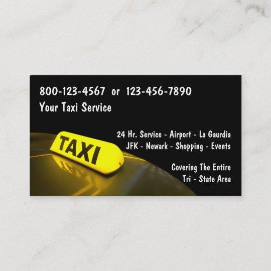 Taxi Visitenkarten Visitenkarte Zazzle De
