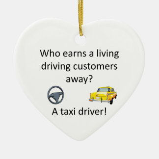 Taxi-Witz Keramik Herz-Ornament
