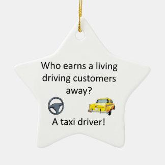 Taxi-Witz Keramik Ornament