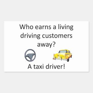 Taxi-Witz Rechteckiger Aufkleber