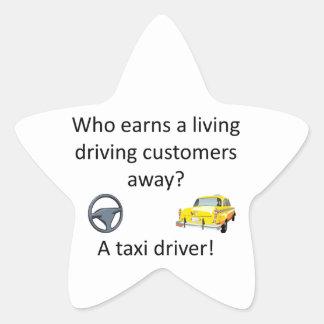 Taxi-Witz Stern-Aufkleber