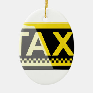 Taxizeichen Keramik Ornament
