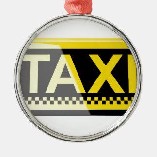Taxizeichen Silbernes Ornament