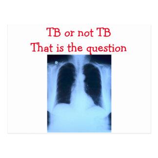 TB oder nicht TB-Postkarte Postkarte