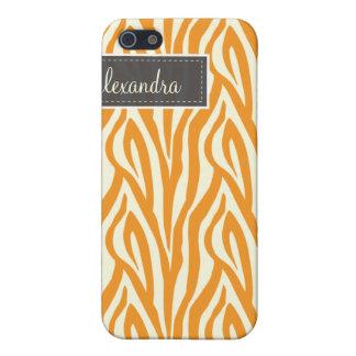 {TBA} 4 Zebra Pern (orange) iPhone 5 Cover