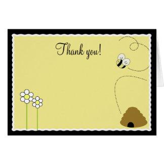 {TBA} Gefaltete Bienen-danken die glückliche Karte
