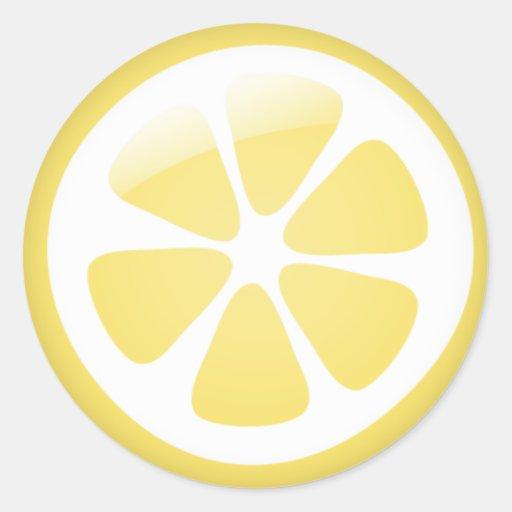 {TBA} Zitronen-Aufkleber