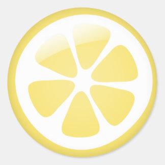 {TBA} Zitronen-Aufkleber Runder Aufkleber