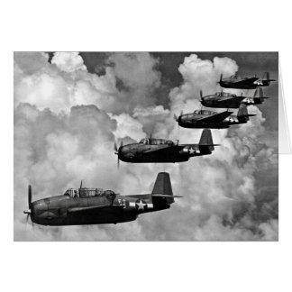 TBF Rächer-Torpedo-Bomber Karte