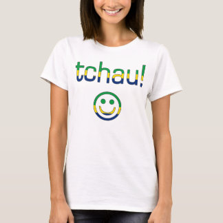 Tchau! Brasilien-Flaggen-Farben T-Shirt