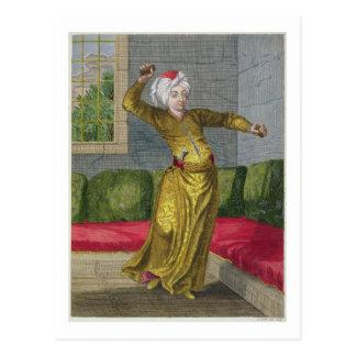 Tchingui, türkischer Tänzer, 18. Jahrhundert Postkarte