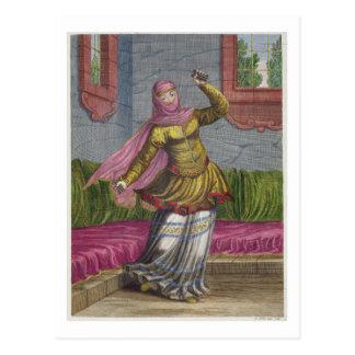 Tchinguis oder türkischer Tänzer, 18. Jahrhundert Postkarte