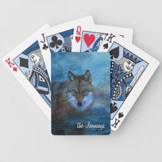 TCWC - Blaues Wolf-Weihnachten Bicycle Spielkarten