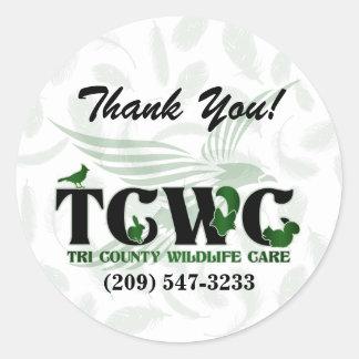TCWC - Logo-Grün danken Ihnen Aufkleber